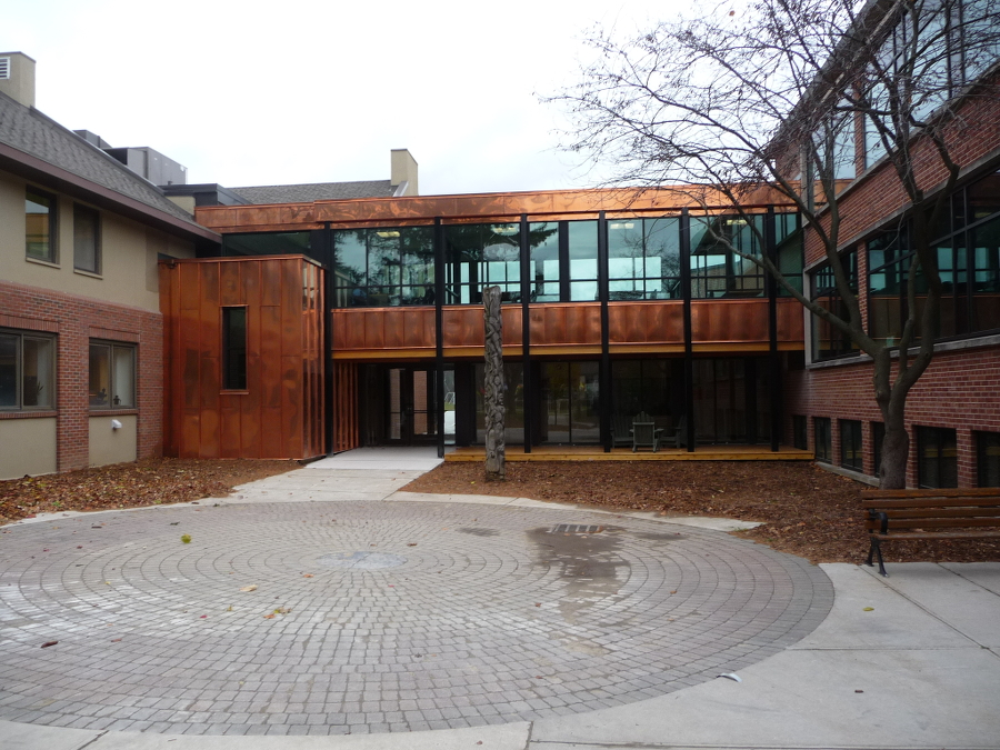 Appleby college Copper panels